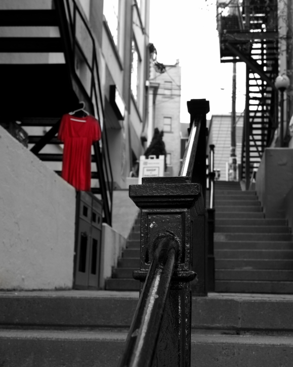 Red Dress in the shadows